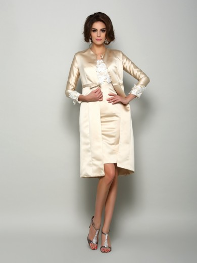 Long Sleeves Satin Applique Special Occasion Wrap