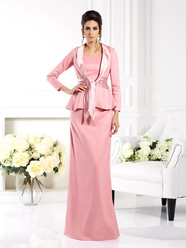 Elastic Woven Satin 3/4 Sleeves Special Occasion Wrap