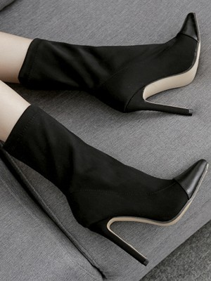 Stiletto Heel PU Closed Toe High Heels For Women